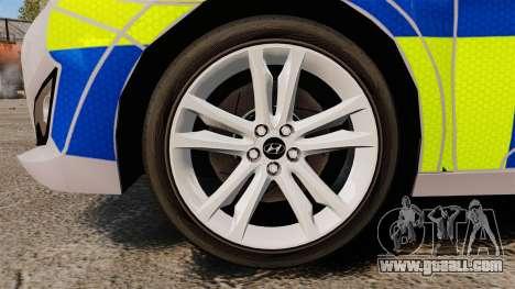 Hyundai i40 2013 Metropolitan Police [ELS] for GTA 4 back view