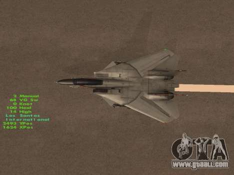F-14 Tomcat HQ for GTA San Andreas engine