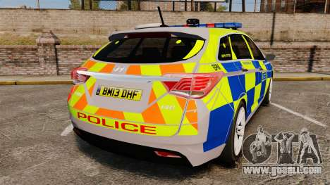 Hyundai i40 2013 Metropolitan Police [ELS] for GTA 4 back left view