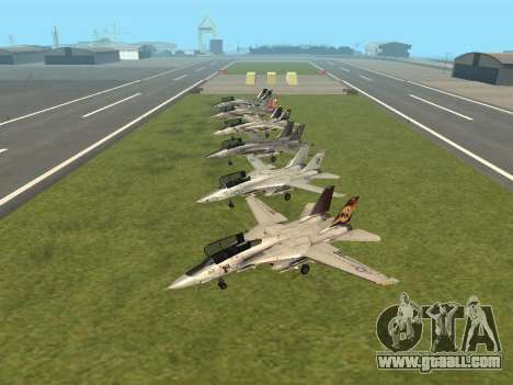 F-14 Tomcat HQ for GTA San Andreas left view