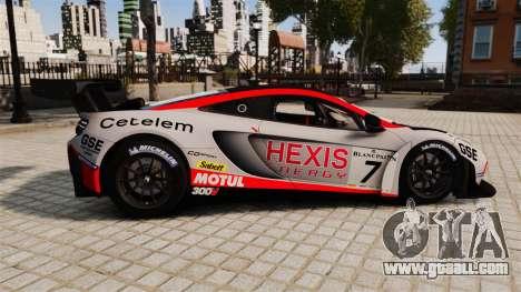 McLaren MP4-12C GT3 for GTA 4 left view