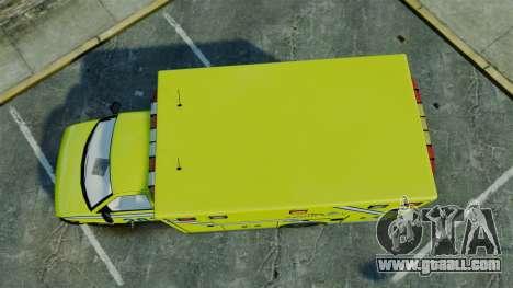 Brute New Liberty Ambulance [ELS] for GTA 4 right view
