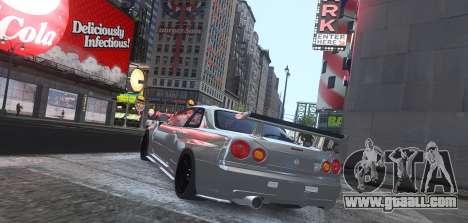 Nissan Skyline GTR-34 Nismo Z-Tune for GTA 4 back left view