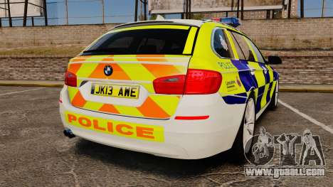 BMW 530d Touring Lancashire Police [ELS] for GTA 4 back left view