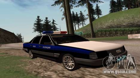Audi 100 Police Department for GTA San Andreas back left view