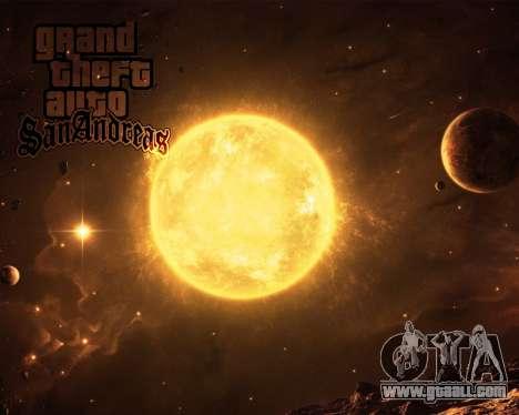 New boot screens Space for GTA San Andreas forth screenshot