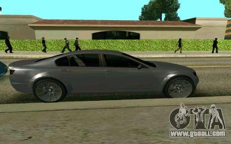 GTA V Fugitive for GTA San Andreas back left view