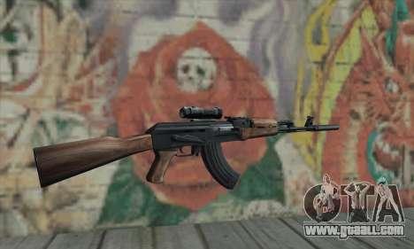 AK-47 Silencer for GTA San Andreas second screenshot