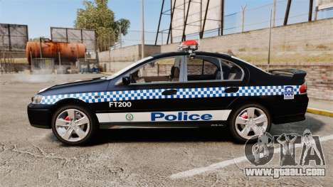 Ford BF Falcon XR6 Turbo Police [ELS] for GTA 4 left view