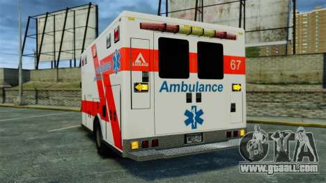 Brute Luxaid Ambulance [ELS] for GTA 4 back left view