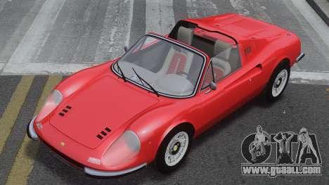 Ferrari Dino 246 GTS for GTA 4 inner view