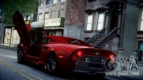 Spyker C8 Aileron Spyder v2.0 for GTA 4 bottom view