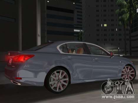 Lexus GS350 F Sport 2013 for GTA Vice City side view