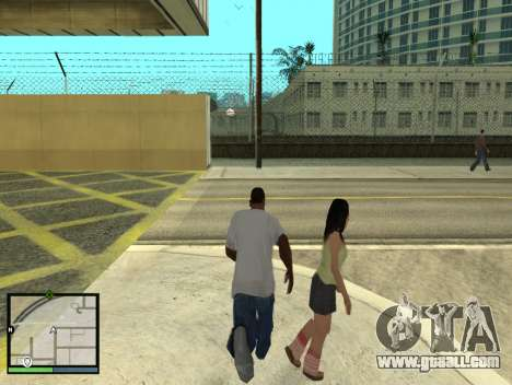 GTA 5 HUD v2 for GTA San Andreas fifth screenshot