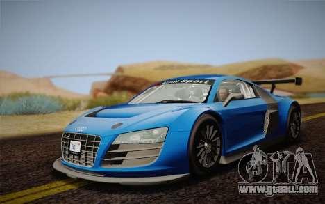 Audi R8 LMS v2.0.4 DR for GTA San Andreas left view