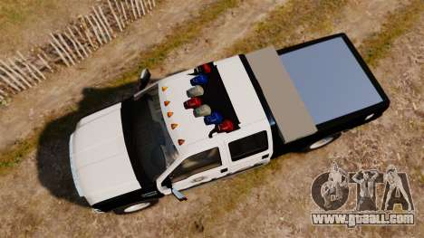 Ford F-250 Super Duty Police [ELS] for GTA 4 right view