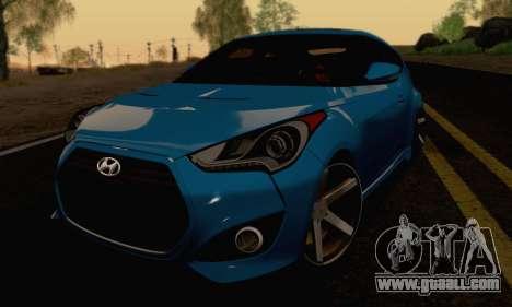 Hyundai Veloster for GTA San Andreas back view