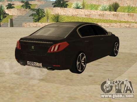 Peugeot 508 2011 v2 for GTA San Andreas right view