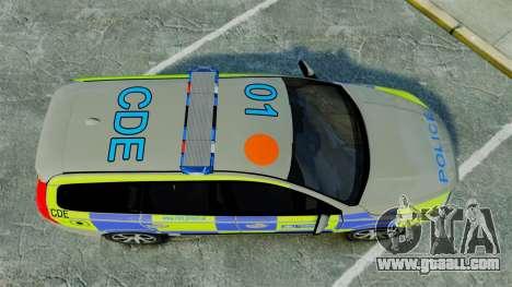 Volvo V70 Metropolitan Police [ELS] for GTA 4 right view