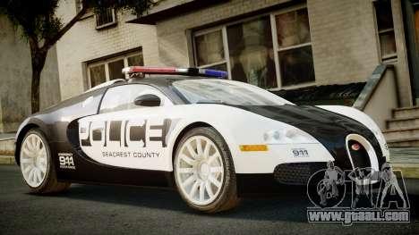 Bugatti Veyron 16.4 Police NFS Hot Pursuit for GTA 4