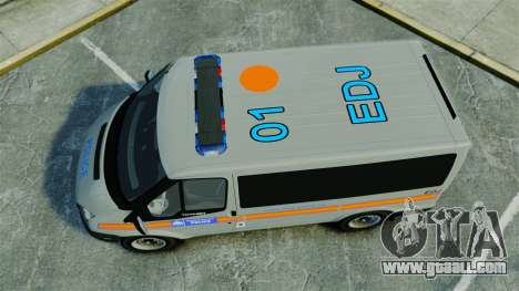 Ford Transit Metropolitan Police [ELS] for GTA 4 right view