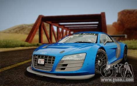 Audi R8 LMS v2.0.4 DR for GTA San Andreas back left view