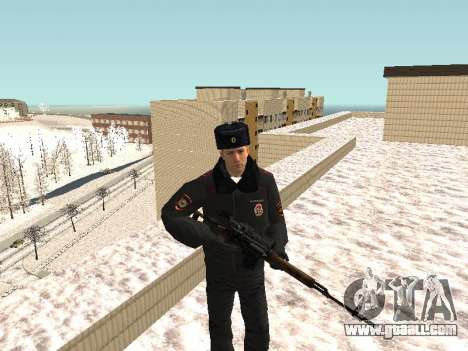 Pak police officers in the winter uniforms for GTA San Andreas seventh screenshot