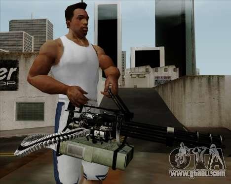 Renegades Minigun Black for GTA San Andreas third screenshot