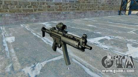 Submachine gun MP5 RIS Nom900a for GTA 4