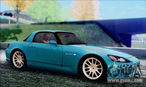 Honda S2000 Daily for GTA San Andreas upper view
