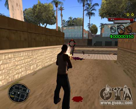 C-HUD by Santoro for GTA San Andreas third screenshot