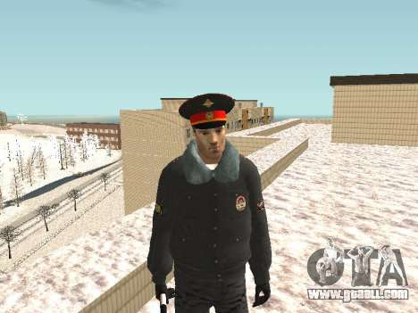 Pak police officers in the winter uniforms for GTA San Andreas eighth screenshot