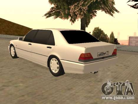 Mercedes-Benz S600 W140 for GTA San Andreas left view