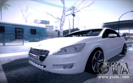 Peugeot 508 2011 v2 for GTA San Andreas