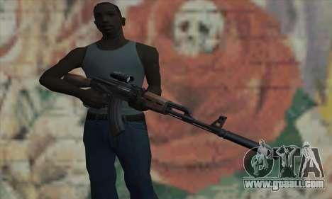 AK-47 Silencer for GTA San Andreas third screenshot