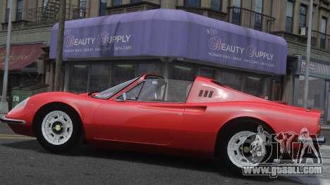 Ferrari Dino 246 GTS for GTA 4 left view