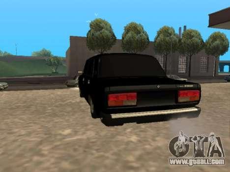 Vaz 2107 v1.2 Final for GTA San Andreas back left view