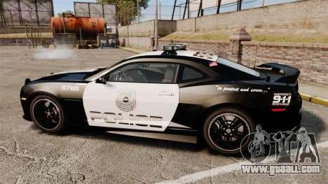 Chevrolet Camaro Police [ELS-EPM] for GTA 4 left view
