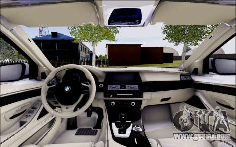 BMW 550 F10 xDrive for GTA San Andreas inner view