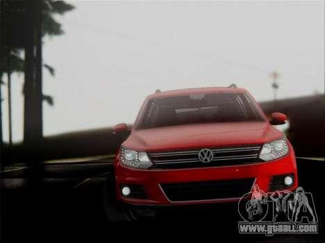 Volkswagen Tiguan 2012 for GTA San Andreas inner view