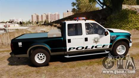 Ford F-250 Super Duty Police [ELS] for GTA 4 left view
