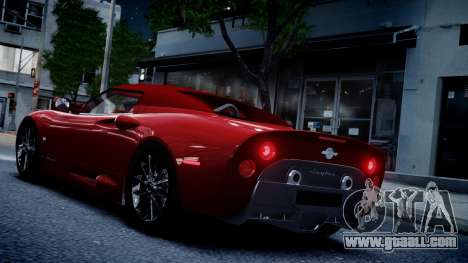Spyker C8 Aileron Spyder v2.0 for GTA 4 back view