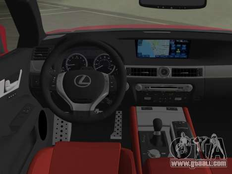 Lexus GS350 F Sport 2013 for GTA Vice City bottom view