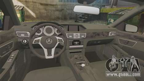 Mercedes-Benz E63 AMG 2014 for GTA 4 inner view