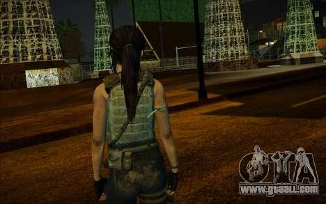 Tomb Raider Lara Croft Guerilla Outfit for GTA San Andreas