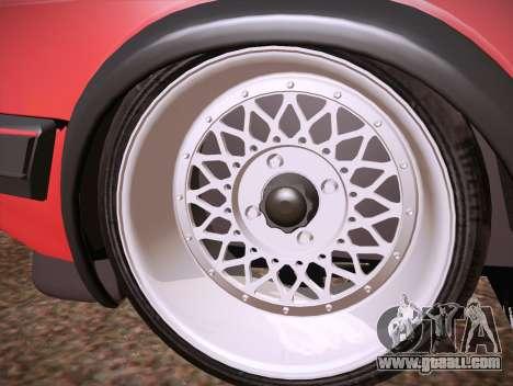Volkswagen Golf Mk2 for GTA San Andreas inner view