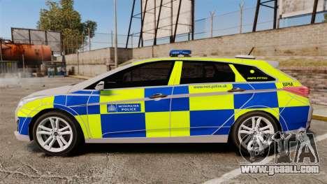 Hyundai i40 2013 Metropolitan Police [ELS] for GTA 4 left view