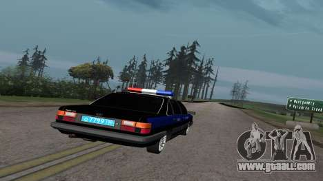Audi 100 Police Department for GTA San Andreas right view