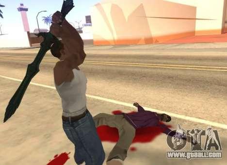 Glass Sword from Skyrim for GTA San Andreas fifth screenshot