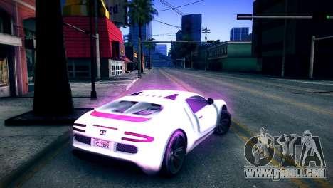 Adder of GTA V for GTA San Andreas back left view